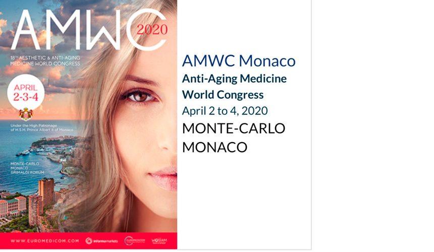 AMWC 2020 Monaco. Всемирный конгресс по антивозрастной медицине